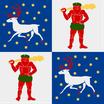 Norrbottens Län Flag