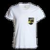 T-shirt bianca con taschino mimetico mod discovery
