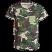 T-shirt mimetica verde con taschino mod