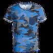 T-shirt mimetica blu con taschino mod