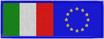 Toppa bandiera italiana con bandiera europea