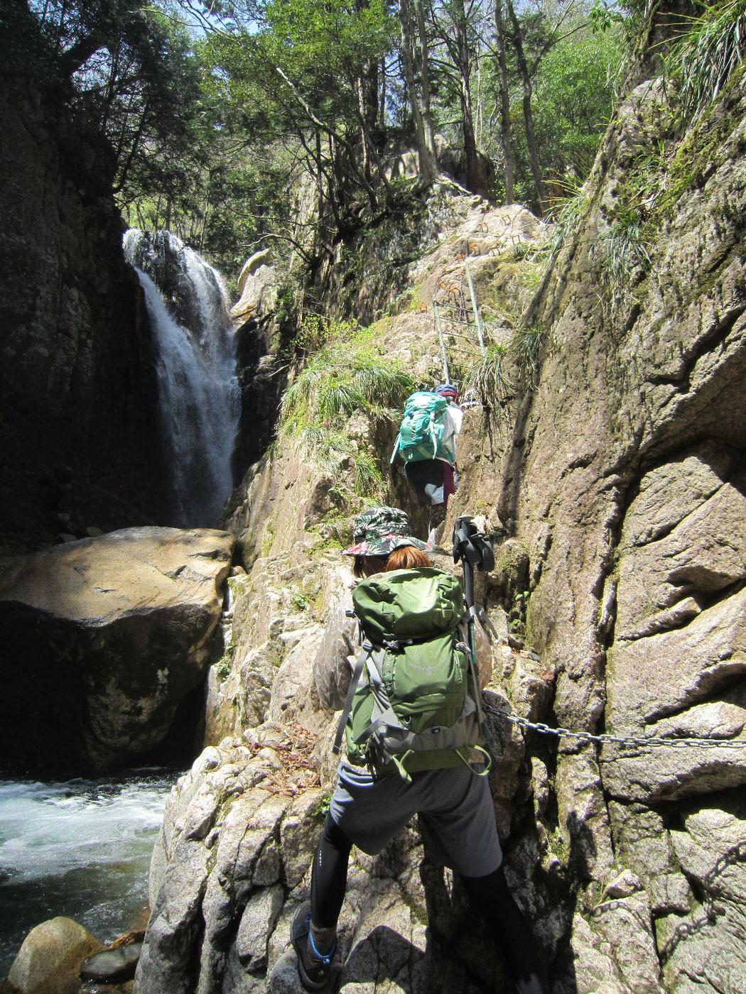 2015.04.26 八ツ淵の滝からの比良山系最高峰 武奈ヶ岳 1,214.4m