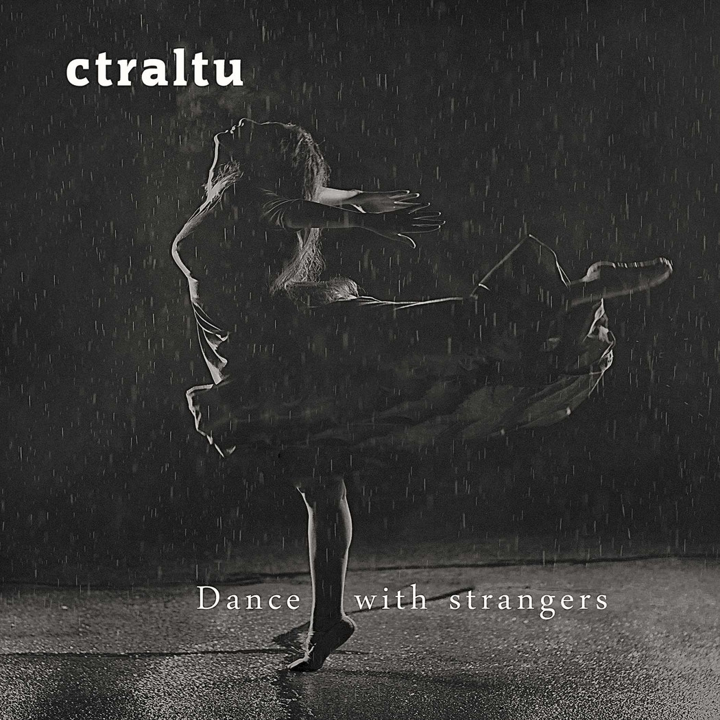 Album cover from post jazz album dance with strangers from ctraltu - a female dancer in the rain