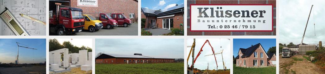 Klüsener Bauunternehmung – Ihr Bauunternehmer für Tiefbau, Hochbau und Ingenieurbau – für private und gewerbliche Objekte!