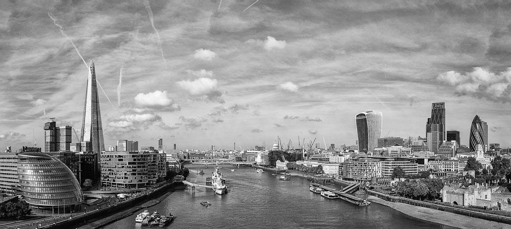London Skyline, UK, Architektur, Architecture, monochrome