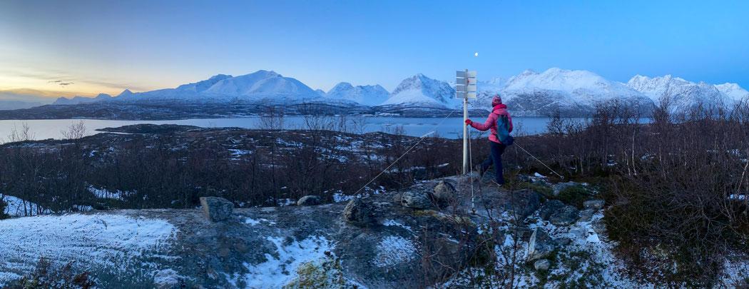 Der höchste Berg auf Arøya