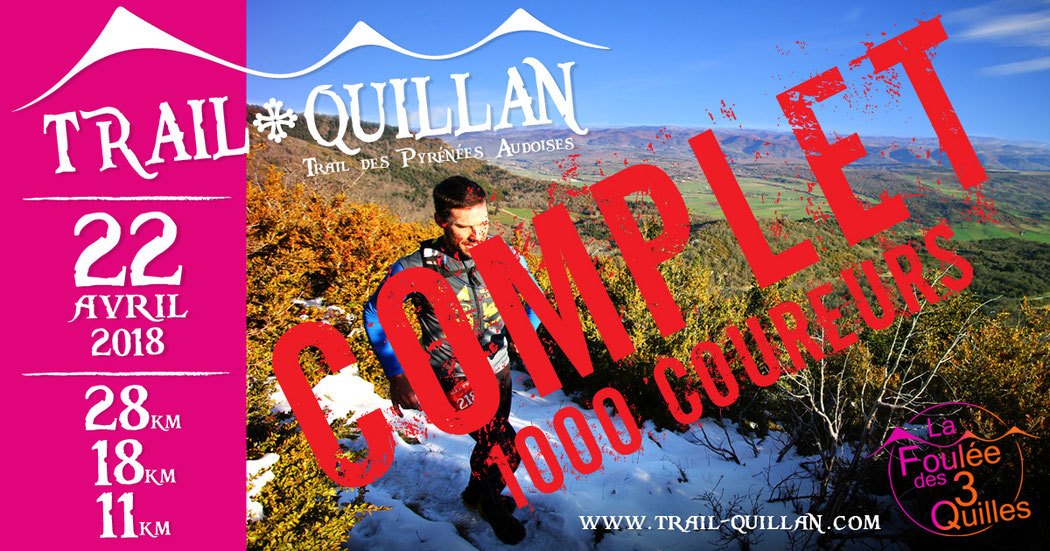 Trail Quillan 2018 complet 1000 coureurs