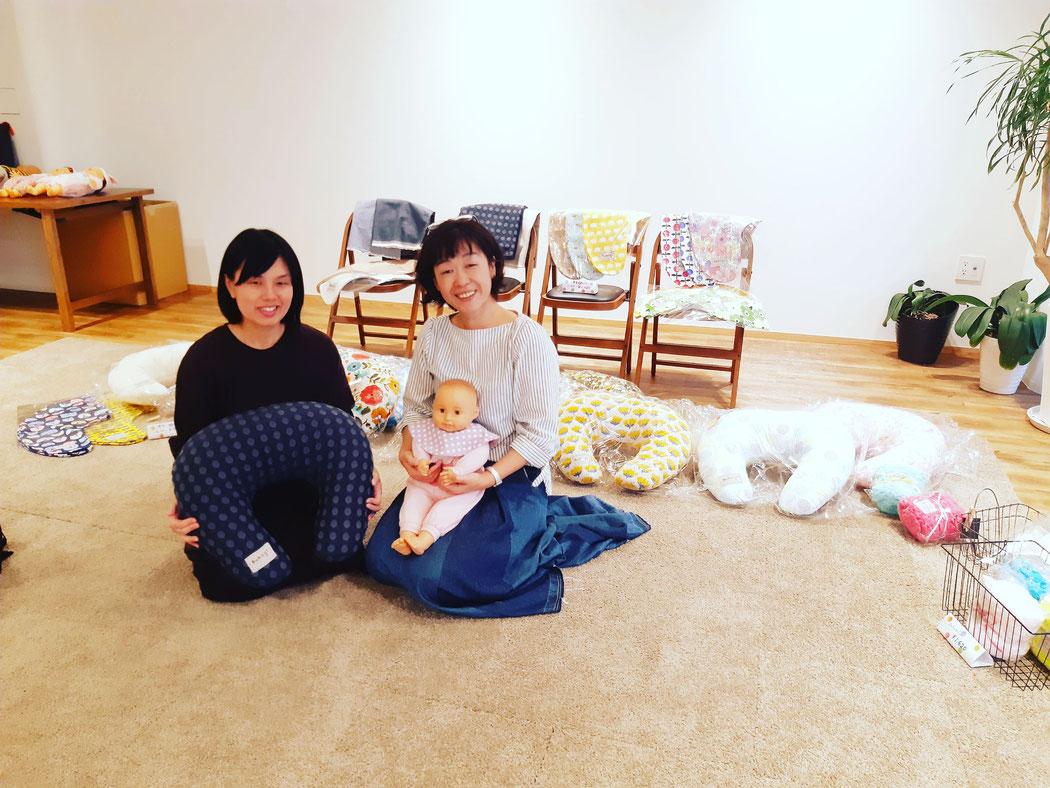 いしい産婦人科醫院において助産師宇留嶋が考案開発した授乳クッションおはなし会(販売・受注会)