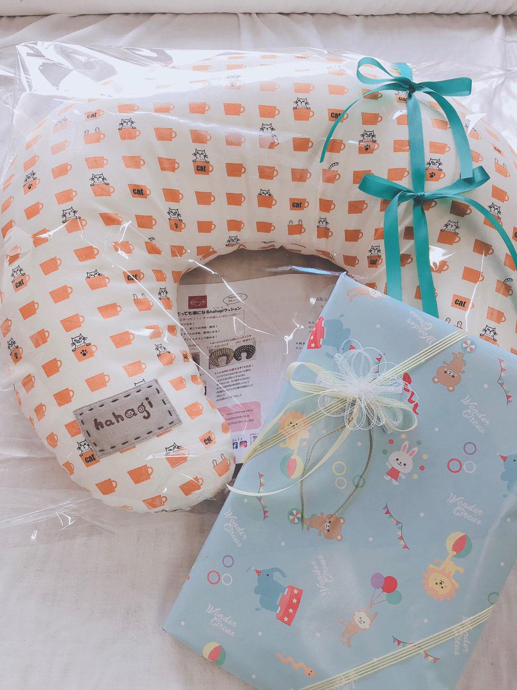 hahagi 授乳クッション お姉ちゃんからの出産祝い。