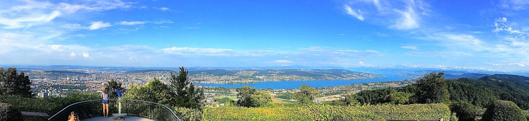 Uetliberg: der beste Ausblick auf Zürich und den Züricher See.