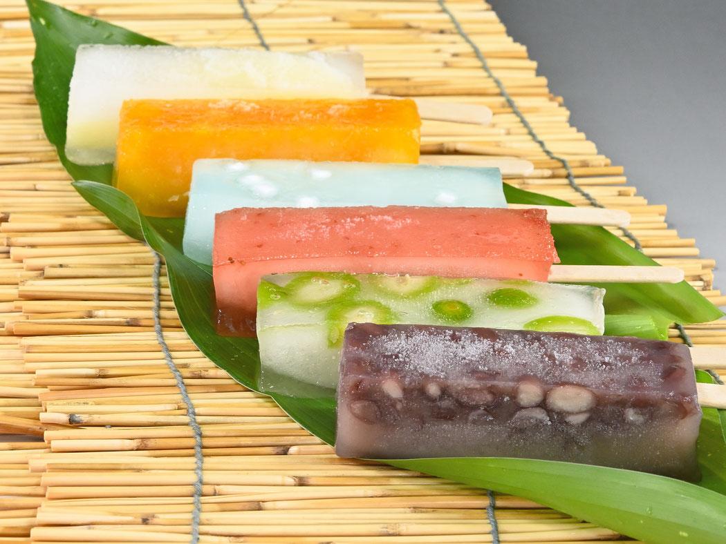 葛氷170円(税込) 全8種 小豆 みかん パイン ラムネソーダ 若桃 いちご 安納芋 メロン