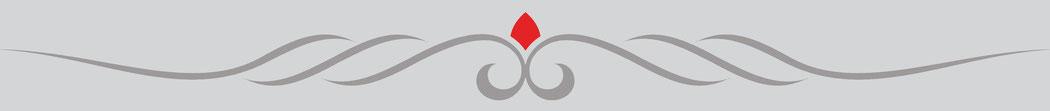Trennstrich, Welle mit rotem Diamanten, Jungo-Grafik