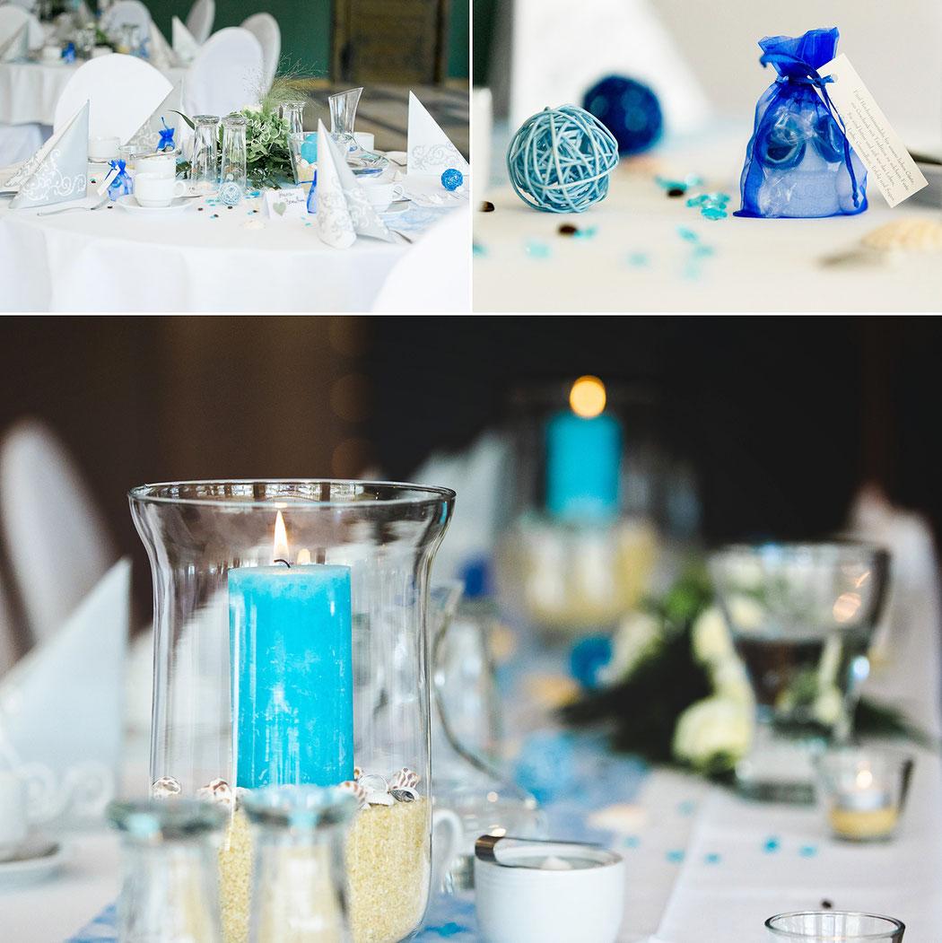 Tischdecke Hochzeit Türkis Blau Hochzeitsfotograf Erzgebirge