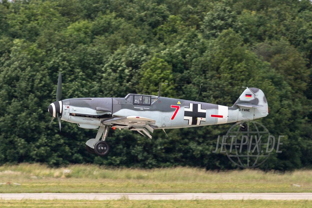 """D-FWME """"ROTE SIEBEN"""" Messerschmitt Stiftung Bf-109G-4 2012.06.15 ETNG/GKE Geilenkirchen"""