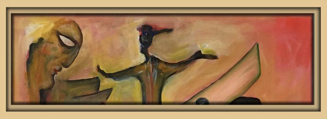 Ausschnitt aus einem Bild, Acryl auf Leinwand, in der Galerie Fruttti dell'Arte während der Aachener Kunstroute 2016 und in der Aula Carolina in der Ausstellung Spektrum 2016