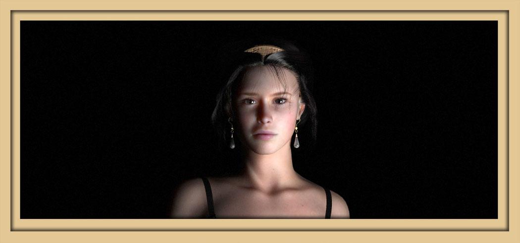Bilder der namensgeberin der Galerie Frutti dell'Arte, Artemisia dell'Arte, auf der Aachener Kunstroute 2016. Digitale Kunst von Marcus Löhrer.