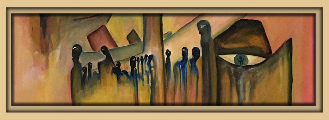 Neue Malerei des Künstlers Ibrahim Alawad auf der Aachener Kunstroute 2016