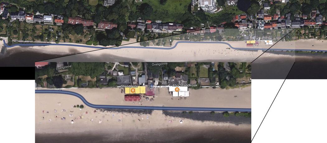 3 m Strandweg