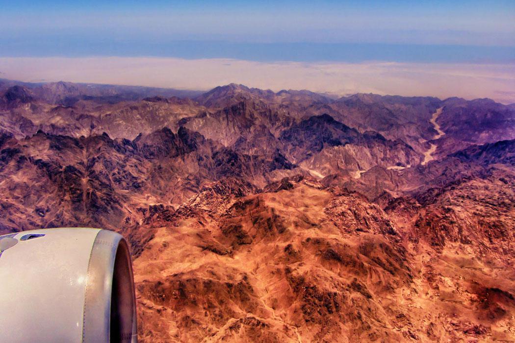 Flug über den Sinai-Ägypten © Jutta M. Jenning ♦ www.mjpics.de
