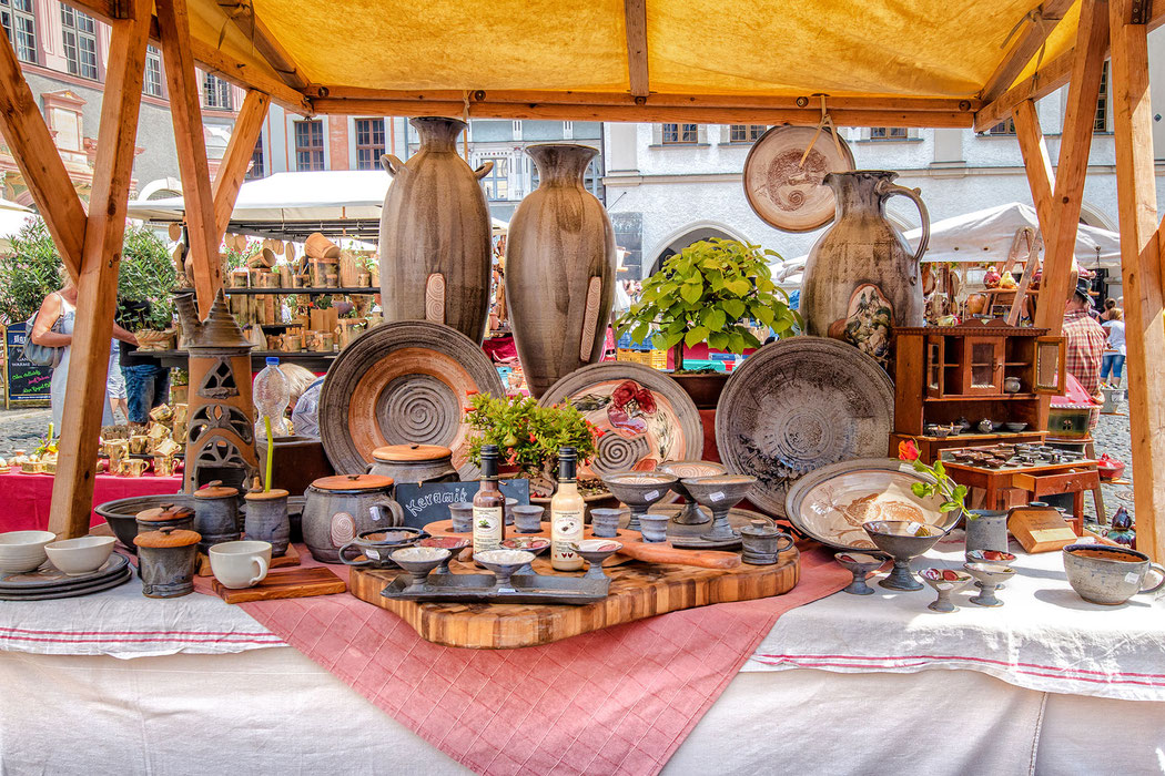 """Töpferware auf dem """"Schlesischen Tippelmarkt"""" in Görlitz"""