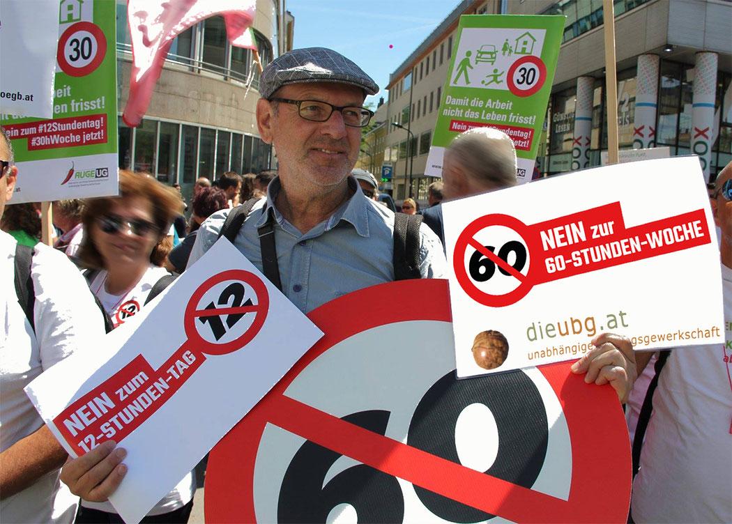 Demo am 30.06.2018 Gerhard Pusnik Bild: (c)  Mario Lechner/ bearbeitet von spa