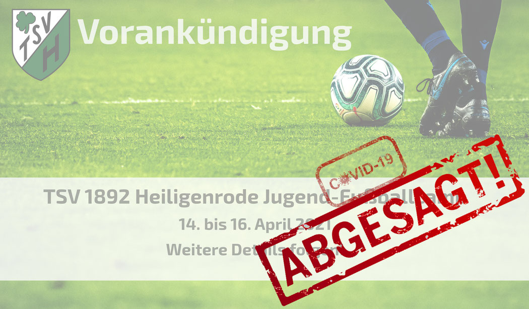 TSV Heiligenrode Jugend Fussball Absage Covid Corona