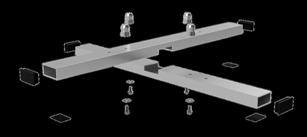 Vertitruss MXA-1000 Bodenplatte als Eplosionszeichnung
