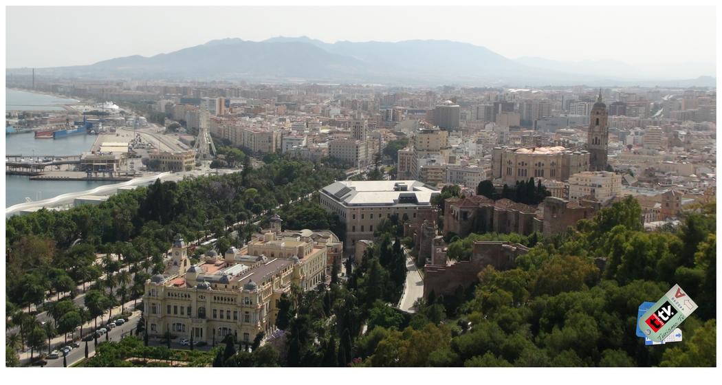 Vista aérea de la ciudad de Málaga