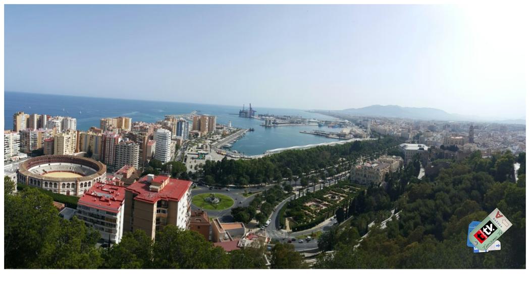Vista aérea de Málaga desde el Monte Gibralfaro