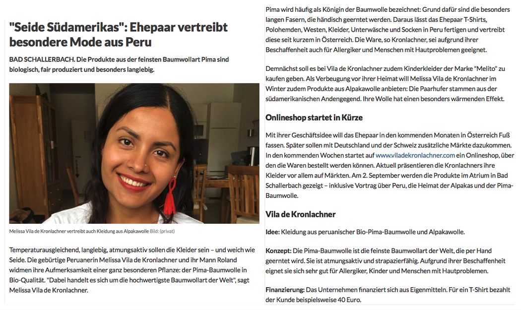 OÖ-Nachrichten - Bericht von Elisabeth Prechtl, am 10.07.2018