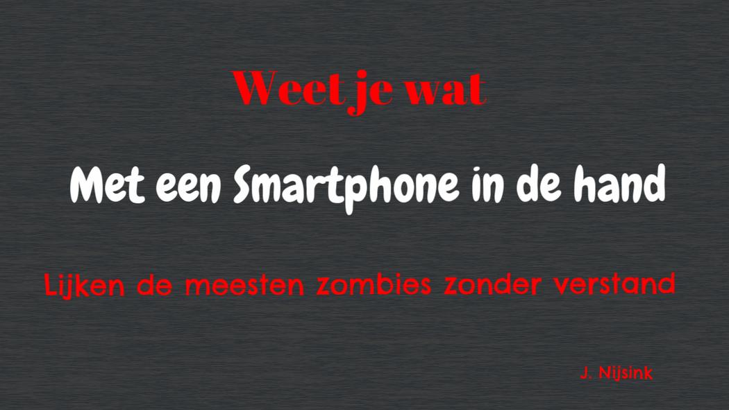 Gedicht Zombies en smartphone