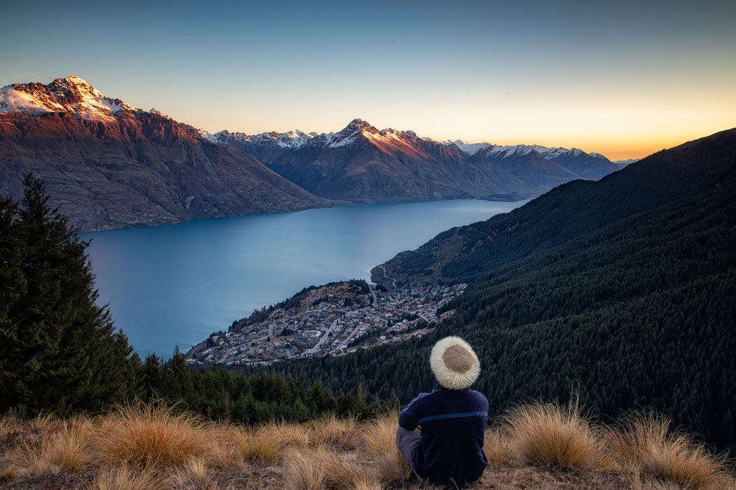 The view from Mount Alfred in Glenorchy