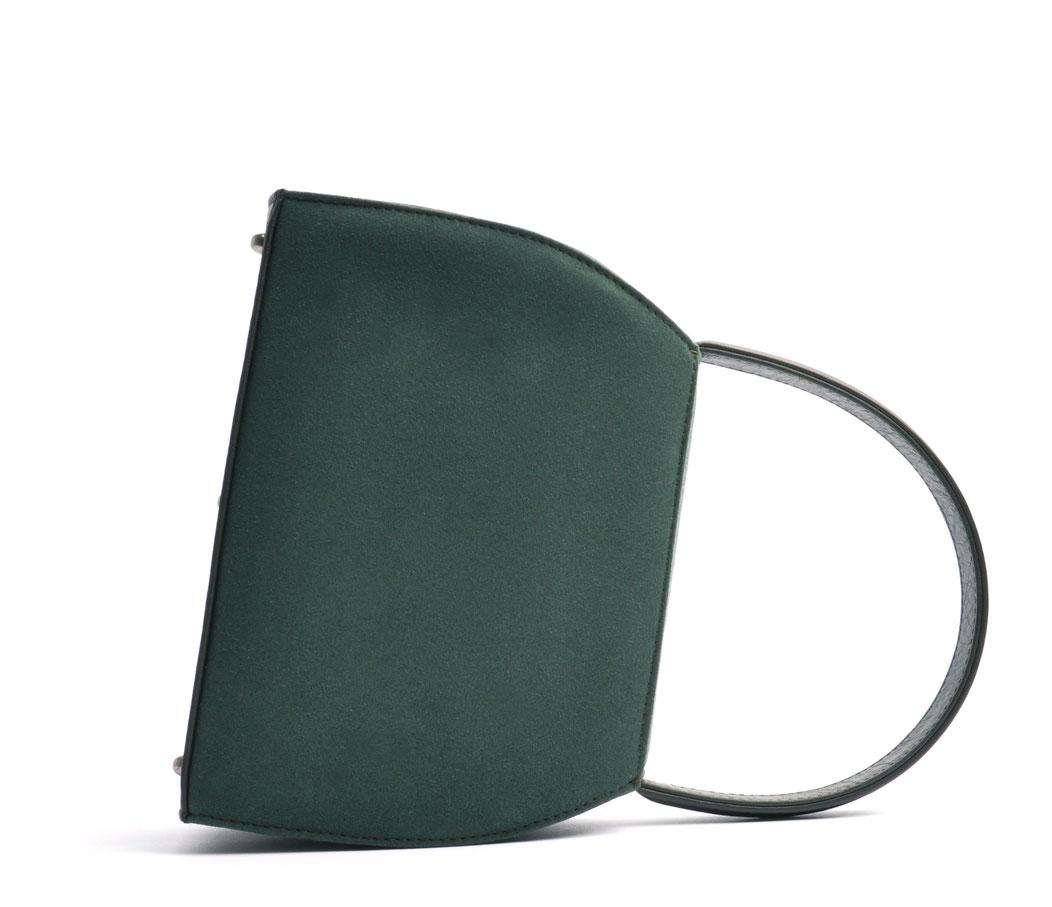 Dirndltasche EMMA grün echte Handarbeit Ledermanufaktur OSTWALD Traditional Craft