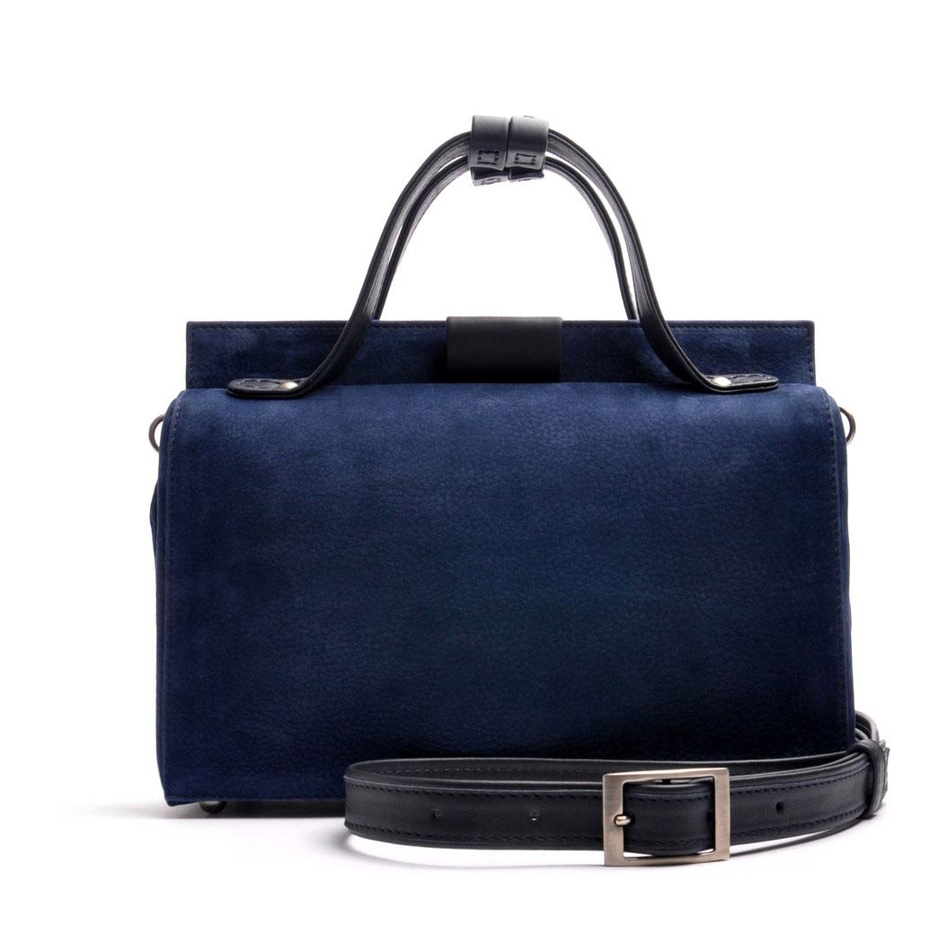 ESTELLE Ledertasche Vintagestil Arztkoffer Leder blau  OSTWALD Traditional Craft