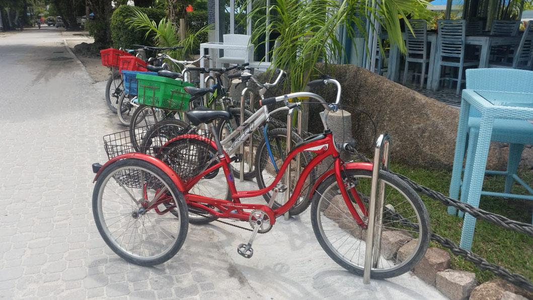 Das Fahrrad - das Fortbewegungsmittel auf La Digue.