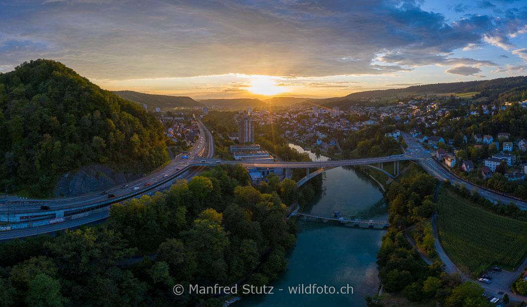 Blick in die Alpen des Unterwallis, Kanton Wallis, Schweiz
