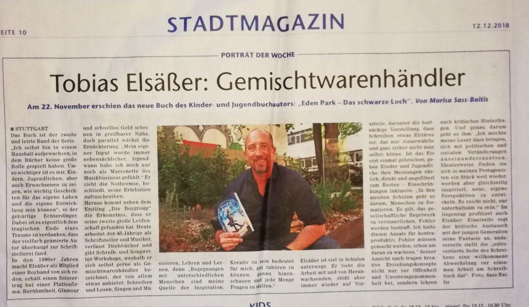 Stuttgarter Wochenblatt vom Dezember.