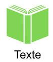 Grafik mit Buch mit Verlinkung in die Unterseite Texte.