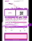 プリント広告 Peach旅程表広告 インバウンド集客プロモーション