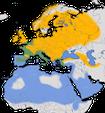 Karte zur Verbreitung des Zilpzalps.