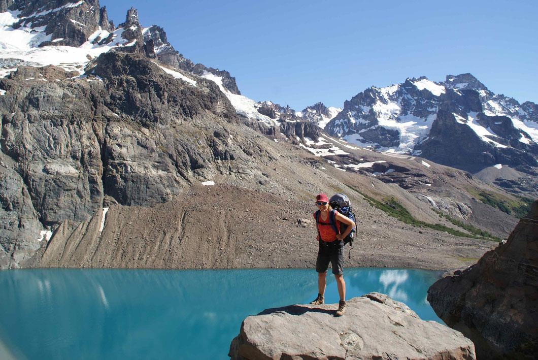 Drei Tage im Massiv des Cerro Castillo. Sonnenschein pur. Perfekte Aussicht. Grossartiges Abenteuer.