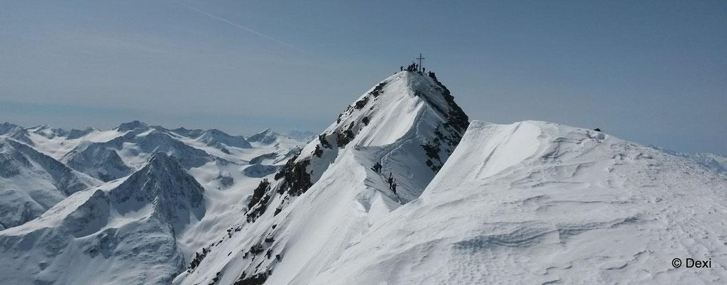 Blick vom Jausenplatzerl zum Gipfel