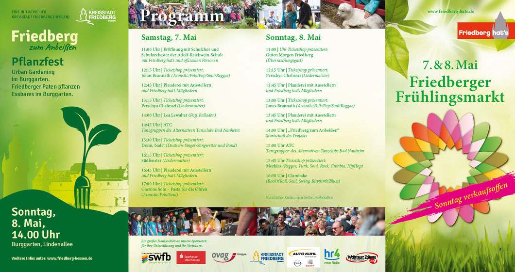 Programm Friedberger Frühlingsmarkt 2015