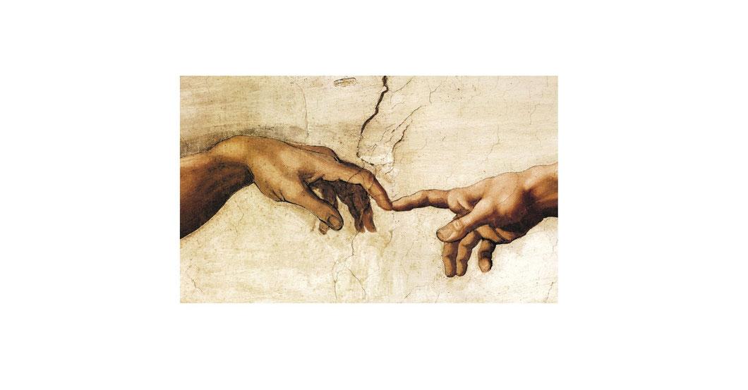 Michelangelo, Erschaffung Adams, Bearbeitung