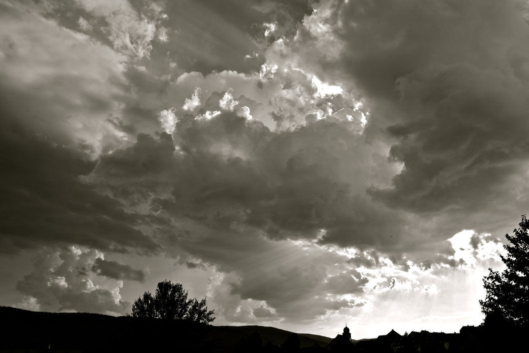 Dramatic Clouds in the Black Forest / Germany