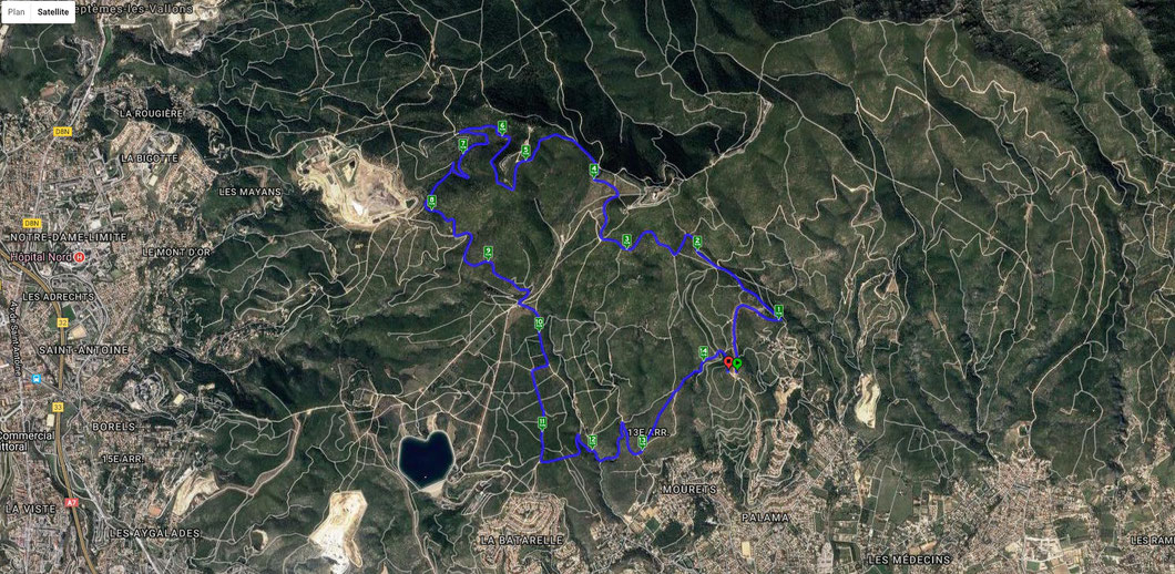 Le parcours de 15 km à la parade de l'Étoile