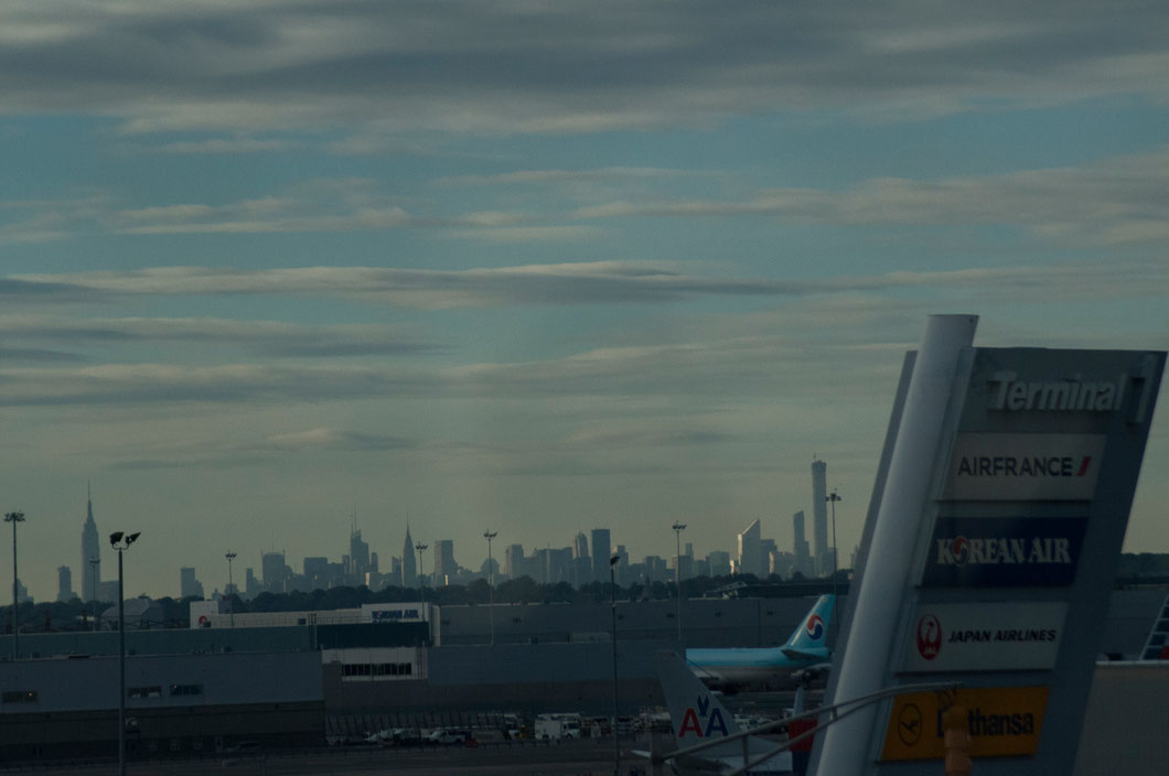 Aéroport de JFK Teminal 1, vue sur New York