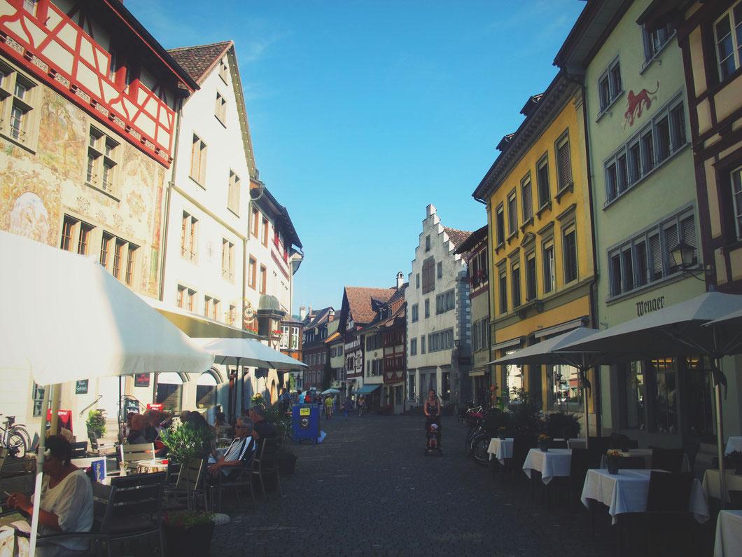 bigousteppes suisse rhin stein village maison couleur