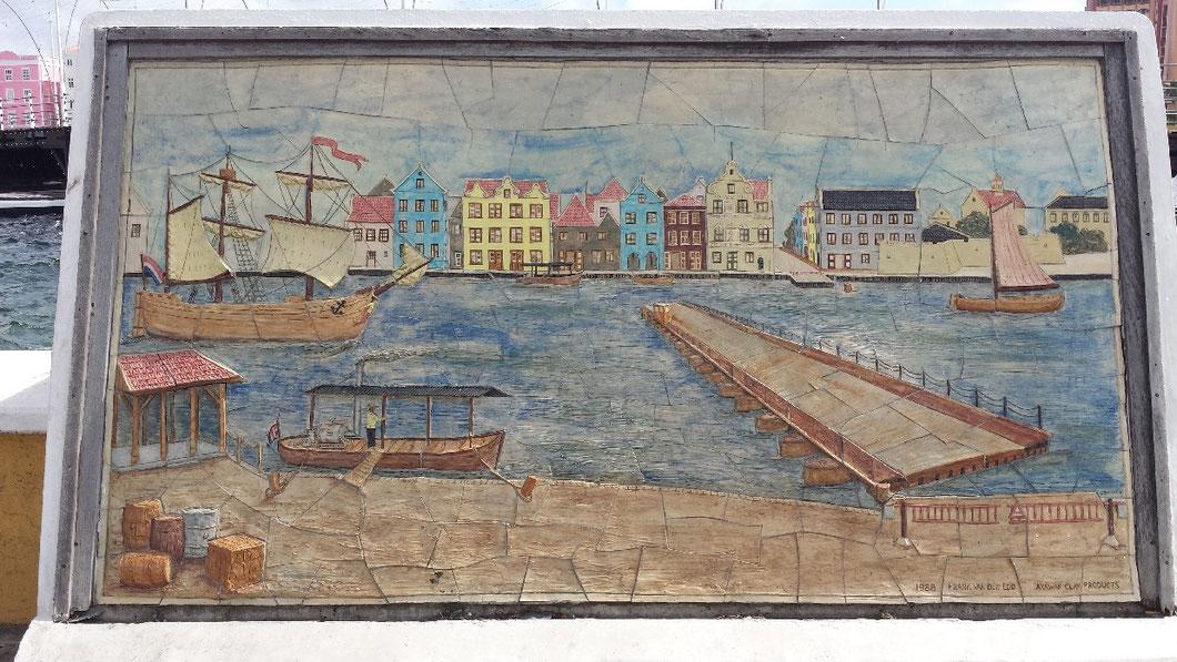 Gemälde vor der Emmabrücke (Blick von Otrobanda nach Punda)