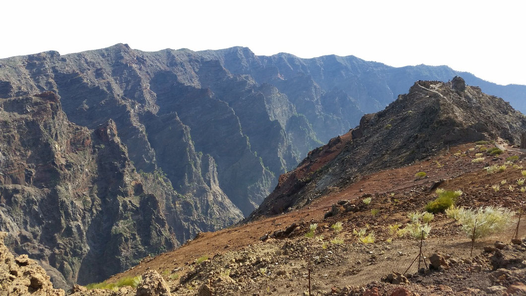 Nordostwand der Caldera de Taburiente